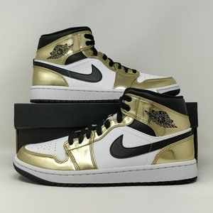 Nike Air Jordan Retro I 1 Mid SE Metallic Gold